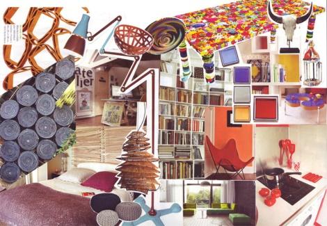 Planche tendance pour l'aménagement mobilier