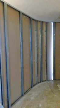 ENTRÉE : TRAVAUX Construction de la cloison de la chambre