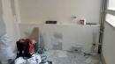 SALLE DE BAIN : TRAVAUX Coffrage de la plomberie