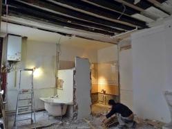 RDC : travaux de décloisonnement et démolition de la cuisine et de la salle-de-bain