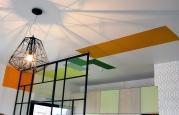 """APRÈS : """"projections colorées"""" au plafond"""