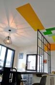 APRÈS : jeux de lumière au plafond