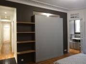 La chambre transformée en suite parentale et son cabinet de toilette APRES