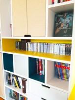 APRES : jeux de couleurs, d'espaces ouverts et fermés dans la bibliothèque