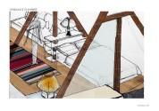 PROJET : les poutres guident l'organisation des espaces