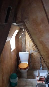AVANT : les WC dans la sdb