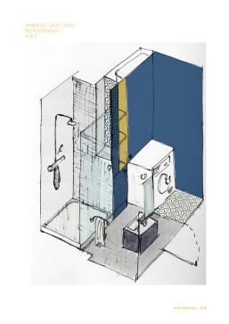 PROJET : transformer la buanderie en salle d'eau gaie et contemporaine