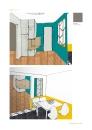 PROJET : ouverture de la cuisine sur l'entrée et liaison avec le séjour